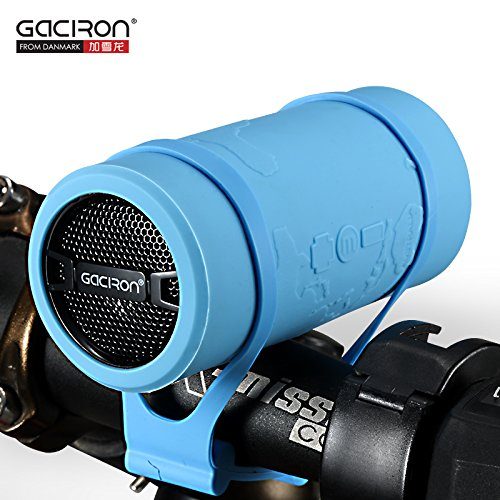 Pdxsun Gaciron Bullet Super-Portable Rechargeable Bluetooth Speaker, Mp3 Player With Micro Sd Card & Aux Inputs - Ideal For Home, Office, Sports & Biking Use -With Bike Mounts - For Smartphone, Tablets, Mp3 Players, Laptops, Handheld Gaming Consoles, Port