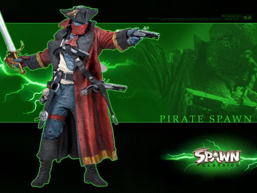 PIRATE SPAWN - Spawn Series 34: SPAWN CLASSICS Ultra Action Figure (Omega Spawn compare prices)