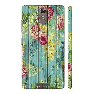 Enthopia Designer Hardshell Case Floral Splash Back Cover for Gionee Elife S6S