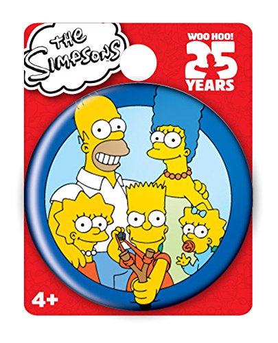Simpsons The Family Single Button Pin Action Figure - 1
