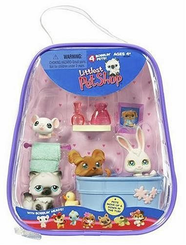 Littlest Pet Shop Bathtime Playset with 4 Pets - 1