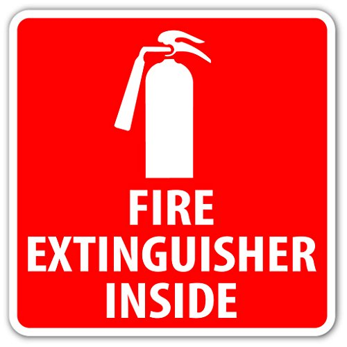 Particular COMBO deal! Pack of (five) 5 Fireplace Extinguisher Inside of Locater Emergency Image Protection Signal Self Adhesive Label Sticky label Sticky label 4×4 in