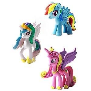 Hometalks®My Little Pony Cake Toppers 12 piezas Figurine Playset Juguetes marca Timetalks
