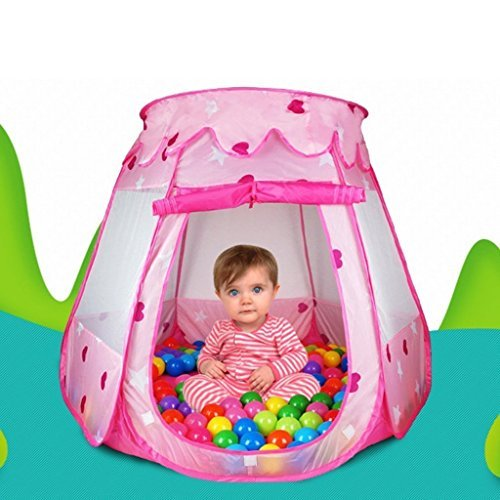 YL Kids Toy Pink Princess Play Tent Girls Gifts for 1-8 Year