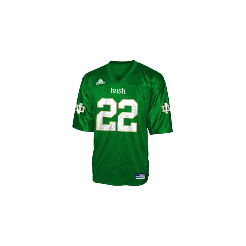 Adidas Notre Dame Fighting Irish #22 Green Replica Football Jersey