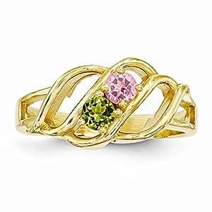 Amazon.com: 14k Polished 2-Stone Mothers Ring Mounting, : Jewelry