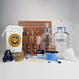 Big Mouth Bubbler® Deluxe Home Brewing Starter Kit w/ Caribou Slobber Brown Ale Recipe Kit