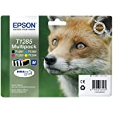 Epson Durabrite T1285 Fox Genuine Multipack Ink Cartridges