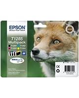 Epson T1285 Cartouche d'encre d'origine DURABrite Ultra Multipack Noir, Cyan, Magenta, Jaune