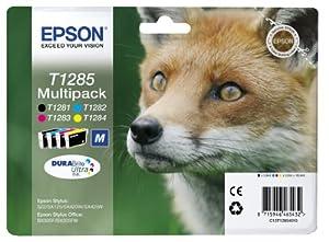 Epson T1285 Tintenpatrone Fuchs, Multipack, 4-farbig