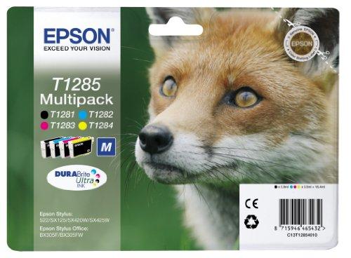 epson-durabrite-t1285-fox-genuine-multipack-ink-cartridges