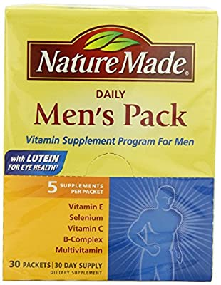 Nature Made Men's Pack Vitamin, 30-Count (Pack of 2)