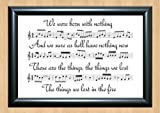 Bastille 'Things We Lost in the Fire' Song Sheet Lyrical Art Print A4 Size