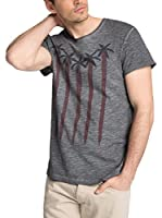 edc by ESPRIT Camiseta Manga Corta (Gris)