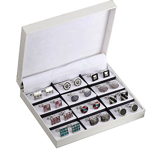 Elegant Cufflink Gift Set Men's Cuff Links 12 Pack