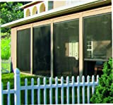 Disappearing, Retractable Screen for Garage, Porch, Patio, Lanai, Gazebo, Large Windows (up to 144
