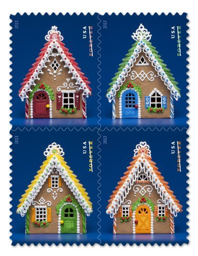 USPS Forever Postage Holiday Gingerbread Houses -- Booklet of 20