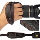 First2savvv Lynda Professional Wrist Grip black genuine leather hand Strap for Nikon D3200
