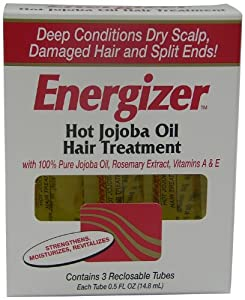 Hobe Labs Energizer Hot Jojoba Oil Hair Treatment, 1.5-Fluid Ounce (Pack of 2)