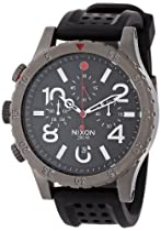 Nixon 48-20 Chrono P  Gunmetal / Black / Red  Watch