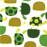 Bonita tela con tortugas verdes Robert Kaufman (por 0,5 m m�ltiples)