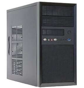 Chieftec CT-01B-OP iArena Mini Tower PC-Gehäuse (ATX), Schwarz