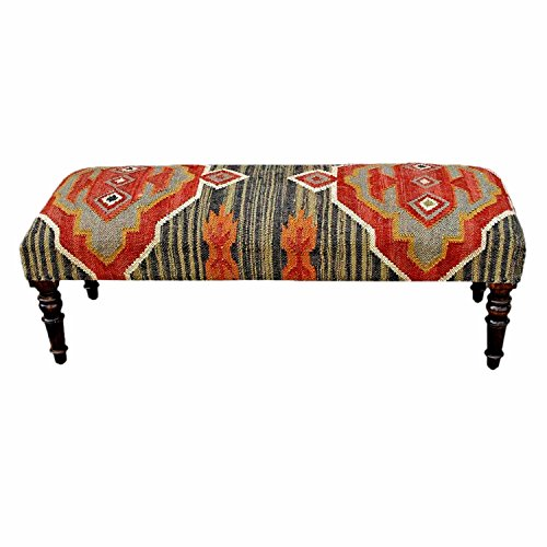 homescapes-upholstered-kilim-bench-footstool-or-rectangular-coffee-table-dark-red-handmade-solid-woo