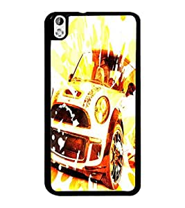 PrintDhaba Car D-3886 Back Case Cover for HTC DESIRE 816 (Multi-Coloured)
