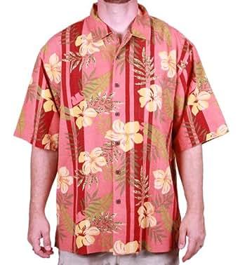 Bermuda bay silk camp shirt medium rosita rose at for Mens silk shirts amazon