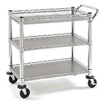 Seville Classics Chrome Utility Cart