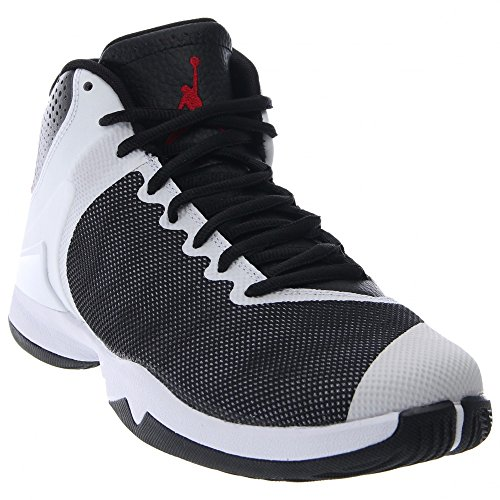 Nike Jordan Men's Jordan Super.Fly 4 PO Black/Gym Red/White/Infrrd 23 Basketball Shoe 10 Men US (Black Red White Jordans compare prices)