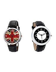 Gledati Men's Multicolor Dial And Foster's Women's Black Dial Analog Watch Combo_ADCOMB0001896
