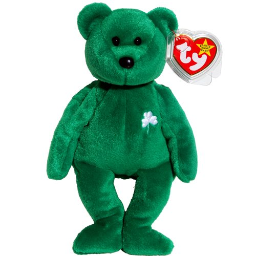 Erin the Green Irish Teddy Bear - MWMT Ty Beanie