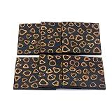 JJ Valaya Wooden 6 Piece Coaster Set - Brown And Black(1113712)