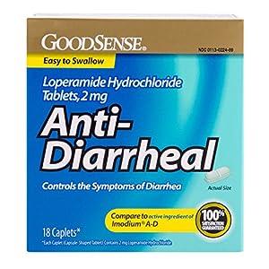 Good Sense Anti-Diarrheal Loperamide Hydrochloride Tablets, 2 mg, 18-count
