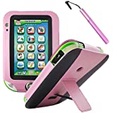 BIRUGEAR Pink Kid-Friendly Faux Leather Stand Case Cover with Stylus for LeapFrog LeapPad Ultra XDI Kids Tablet
