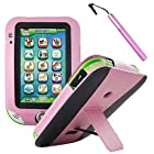 BIRUGEAR Pink Kid-Friendly Faux Leather Stand Case Cover with Stylus for LeapFrog LeapPad Ultra Learning Tablet