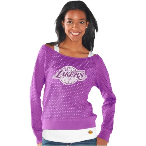 Touch by Alyssa Milano Los Angeles Lakers Ladies Holy Sweatshirt & Tank Set - Purple at Amazon.com