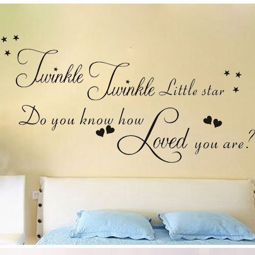 Newsee Decals 23 6 x 47 2 Twinkle Twinkle Little Star Do you know ...
