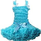 Buenos Ninos Pettiskirt Set Pure Lace Petticoat Pettitop Baby Girl's Tutu Skirt,Blue Size 1-2T