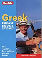 Greek Phrase Book and Dictionary  by