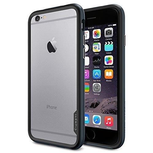 iPhone 6 ケース, Spigen® [ スリム バンパー ] Apple iPhone 4.7 (2014) ネオ・ハイブリッド EX The New iPhone アイフォン6 (国内正規品) (メタル・スレート 【SGP11023】)