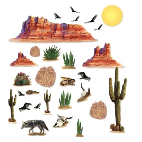 Wild West Desert Props Party Accessory (1 count) (29/Pkg)
