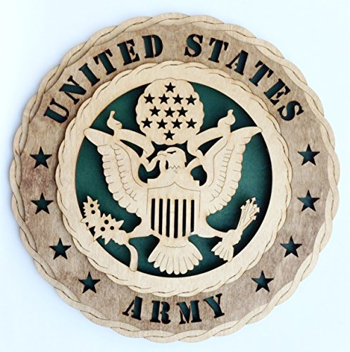 Unique Decorative Custom Laser Crafted Three Dimensional Wooden Wall Plaque - Armed Forces Army