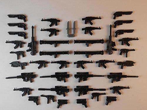 42 Guns for Lego Mini Figures. New Knifes Trooper Halo Star Wars City Bargain Guns (Lego Minifigure Guns compare prices)