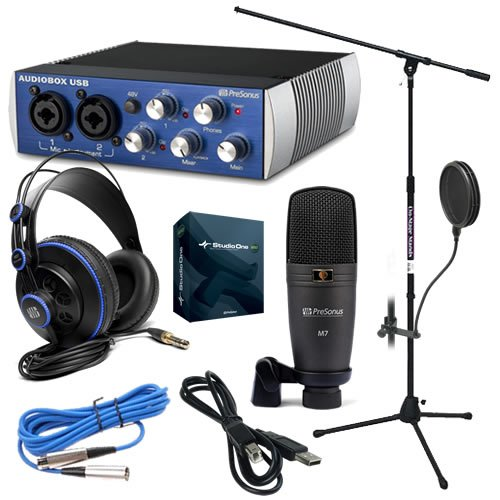 Presonus Audiobox Studio Recording Kit Pak W/ Mic Stand & Pop Filter