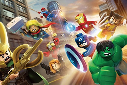 Fashiontopdearls Fashion Cool LEGO Marvel Superhero Poster HD HOME WALL Decor Custom Art Deco unframed -868 size (inch):12x19 (Cool Posters Marvel compare prices)