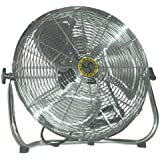 "Airmaster 78974 Industrial Air Circulator, Low Stand Pivot Mount, 18"" Prop Diameter, 115V, 1/8HP Motor"