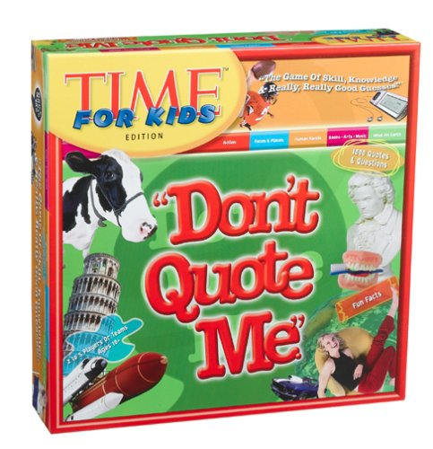 "Don't Quote Me"" Board Game - TIME for Kids Edition"