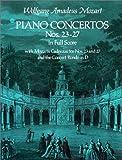 echange, troc Wolfgang Amadeus Mozart - Ctos pour piano Nos 23-27 - Conducteur